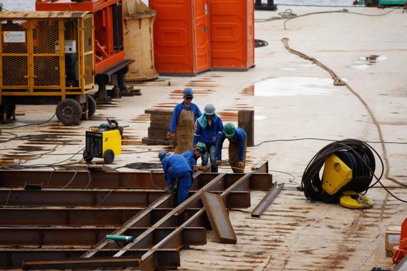 Obras de recuperação de 268 metros da ponte devem finalizar em outubro