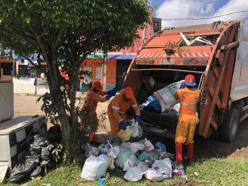 O problema do lixo em local inadequado já começou a ser solucionado em diversos pontos.