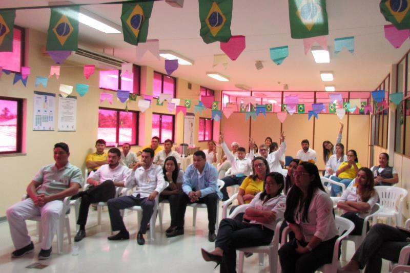 No Regional do Marajó a animação tomou conta de colaboradores e pacientes