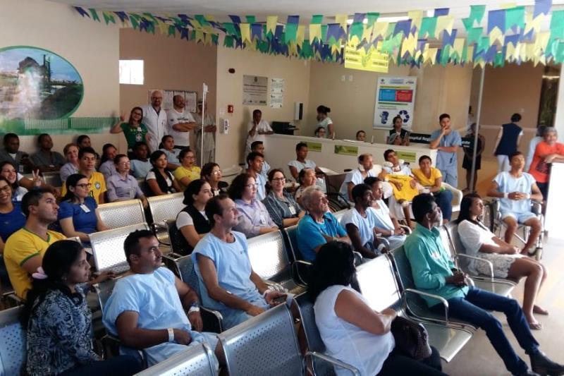 No regional de Paragominas, o jogo foi assistido através dos monitores da Recepção Central, que uniu todos os públicos