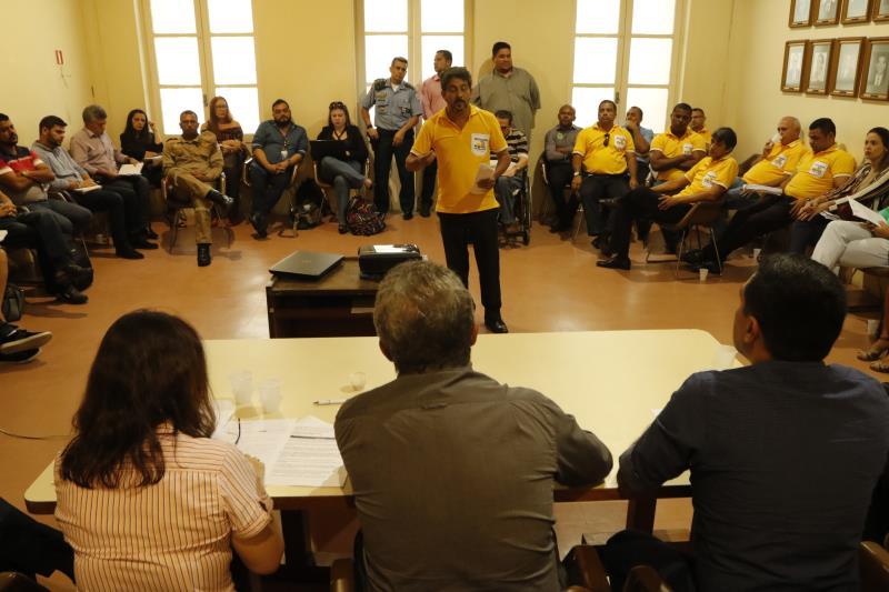 2018.07.18 - PA - Belém - Brasil: Prefeito Zenaldo Coutinho reúne com taxistas e motoristas de aplicativos.