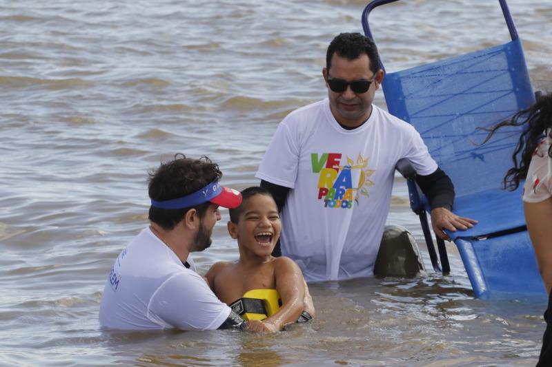 """Projeto """"Praia Acessível"""" voltará a Mosqueiro no Verão 2019."""