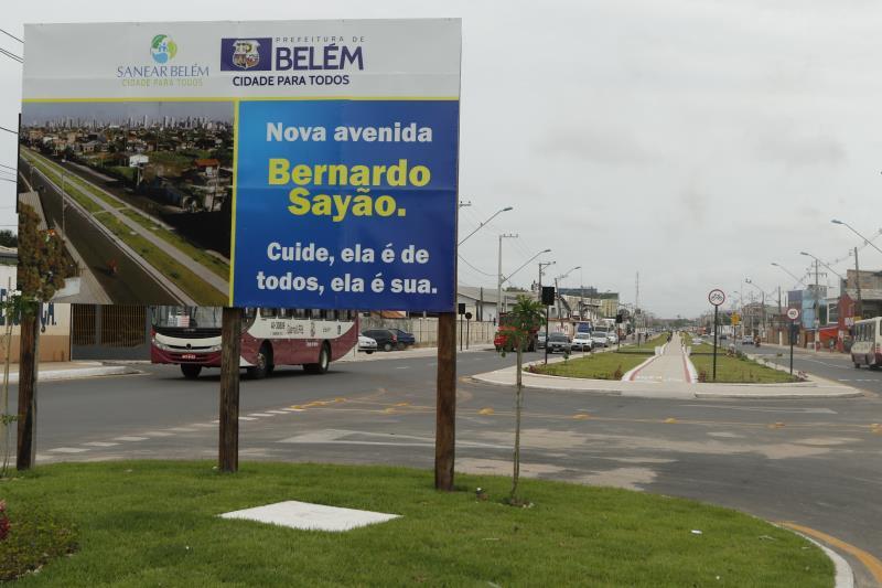 A nova avenida Bernardo Sayão é exemplo do cuidado da Prefeitura de Belém com a cidade