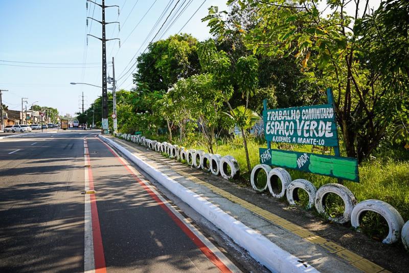 Pontos de Descarte de Lixo em Belém diminuem mais de 10%   Na foto: Av.  Perimetral com a São Domingos, Muro do Museu Emílio Goeldi - Terra Firme