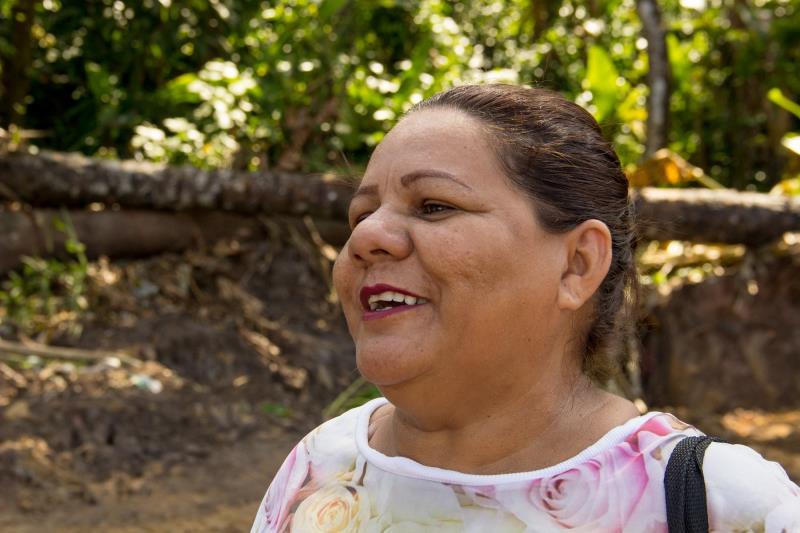 Janete Andrade - Ponto crítico no Conjunto Satélite Foto: Fernando Sette