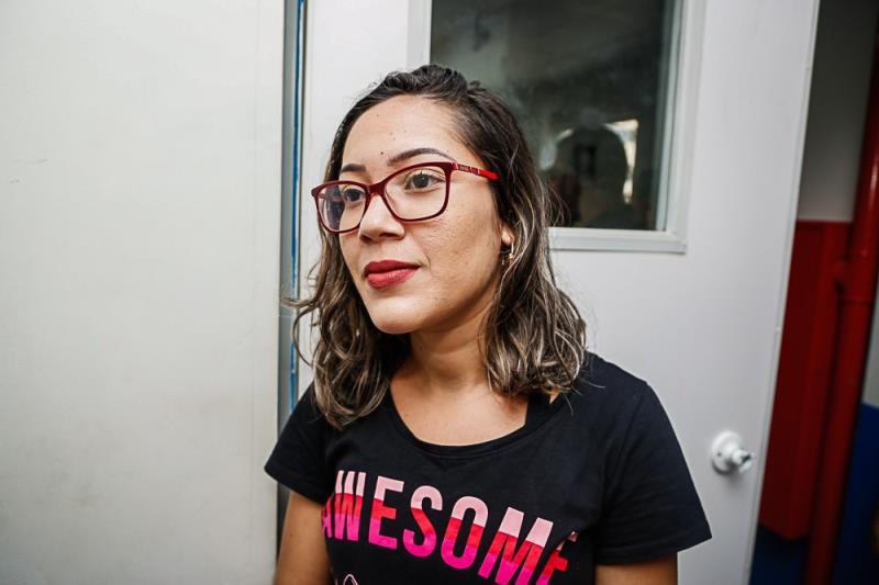 Vanessa Lima, de 20 anos, moradora do distrito de Icoaraci, também participou das aulas.