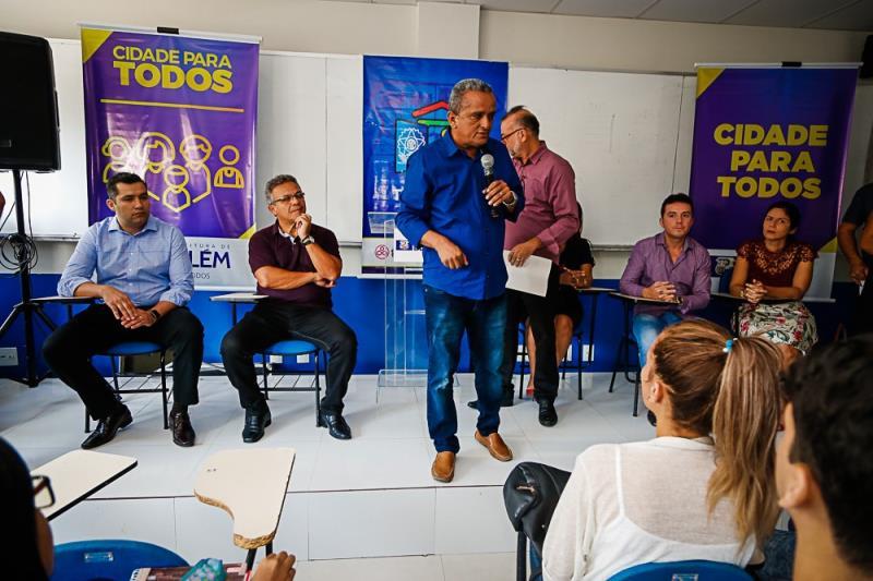 A parceria da PMB com a rede Drogasil conta com o envolvimento de vários órgãos municipais. Na foto: Gilvan dos Anjos do Portal do Trabalhador.