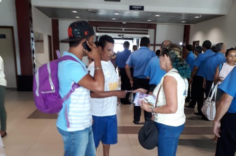 As ações da Funpapa estão sendo realizadas também nas áreas de entrada da cidade, como o Terminal Hidroviário Luis Rebelo