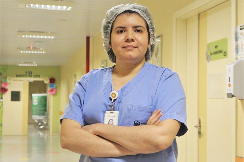 Natália Cunha, enfermeira obstetra do HMIB - Pró-Saúde