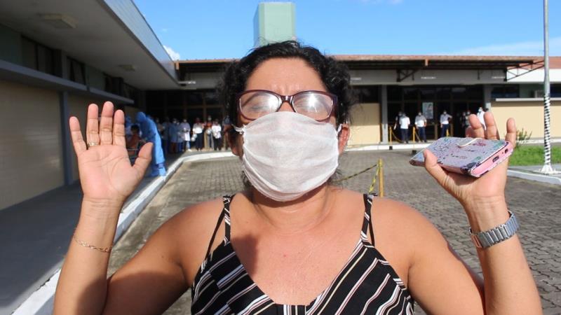 Maria Nobre, irmã de Francisco Ney Balieiro Nobre, 45 anos, que teve alta hospitalar na tarde desta segunda-feira, 18.