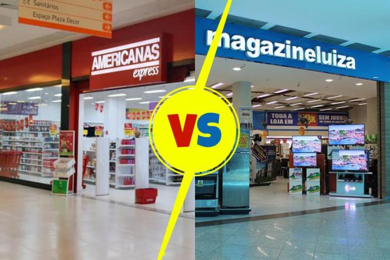 Agora, a briga é entre as duas maiores redes de lojas de departamentos: Magazine Luíza e Americanas.