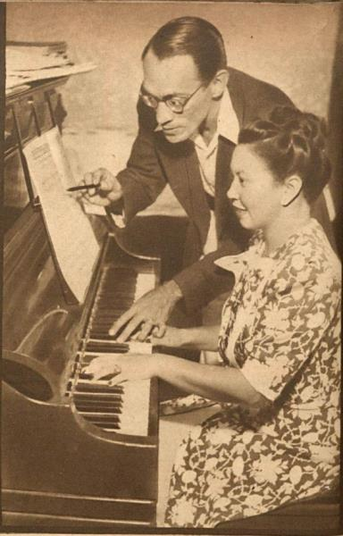 Waldemar Henrique e sua irmã, a cantora Mara, uma de suas destacadas intérpretes.