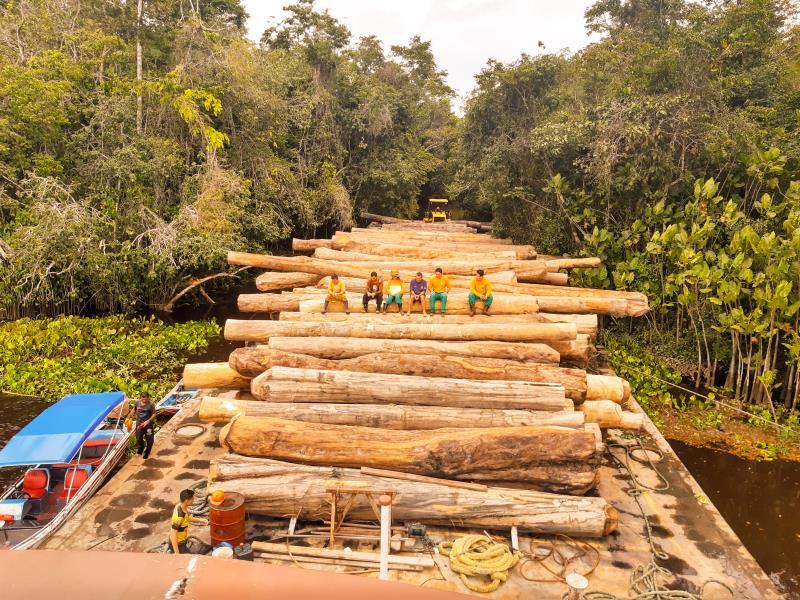 No Plano de Manejo Florestal Sustentável a comunidade se propõe a promover o uso tradicional dos recursos naturais de forma sustentável