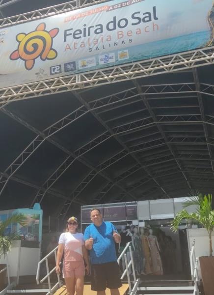 Turistas aprovaram o local da feira no Atalaia