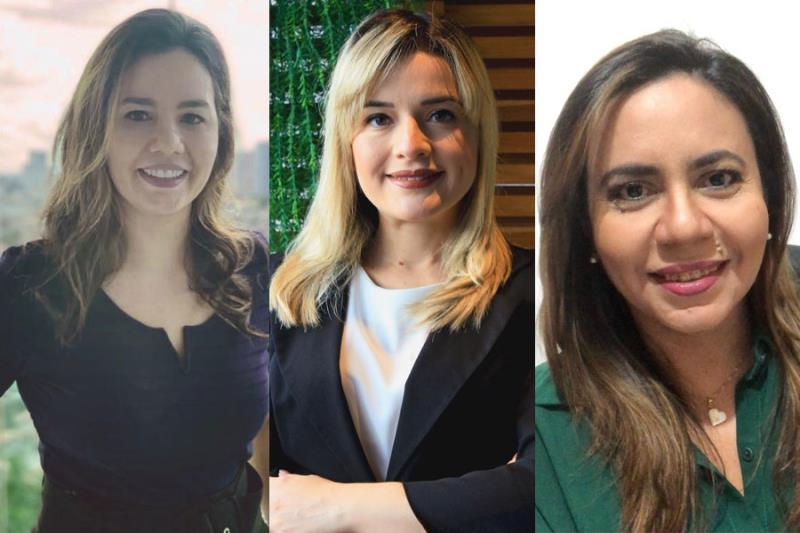 Da esquerda para a direita: Verena Fidalgo Barros, Alessandra Oliveira Damasceno Guedes e Symone Filocreão.