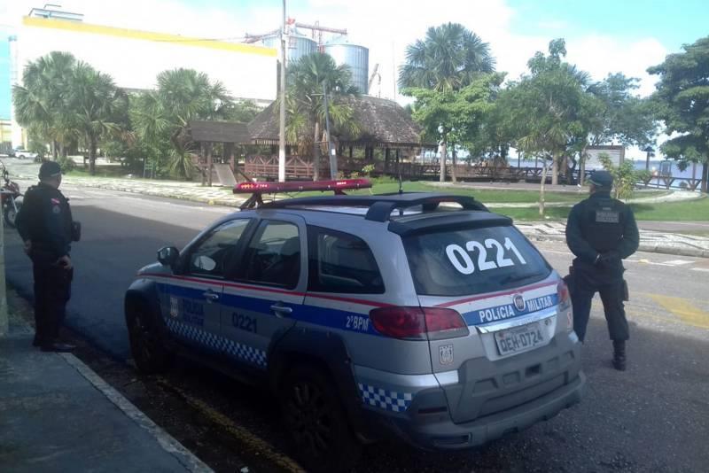 A Polícia Militar do Pará está nas ruas para coibir aglomerações