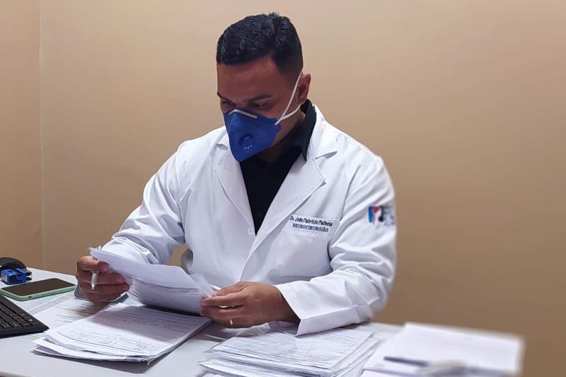 João Fabrício Palheta, neurocirurgião do HRPL.