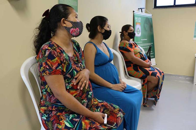 Gestante após consultas com obstetra no HMIB- Pró-Saúde