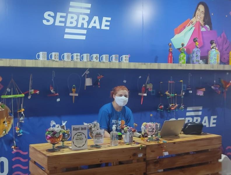 Sebrae mantém um estande colaborativo com produtos de várias regiões do Pará