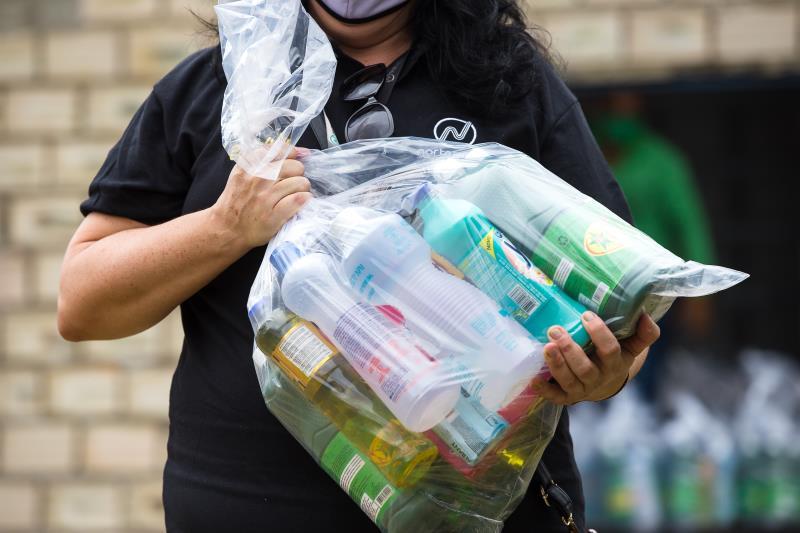 Projeto Tamo Junto - Distribuição de kits, Água Azul
