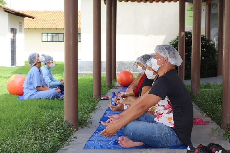 Usuários em momentos de meditação - Pró-Saúde