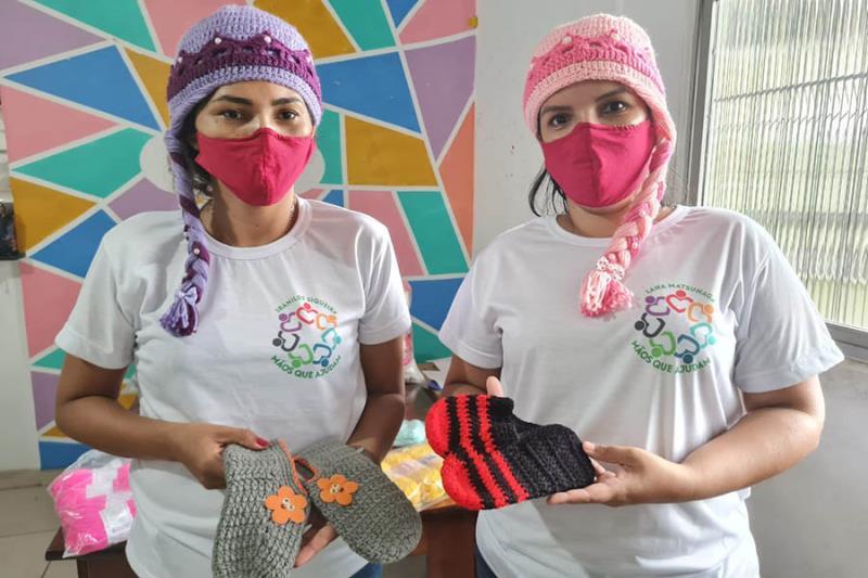 Voluntárias do Grupo Mãos que ajudam. Foto Comunicação Pró-Saúde.