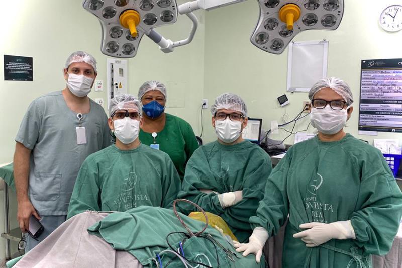 Equipe responsável pela cirurgi