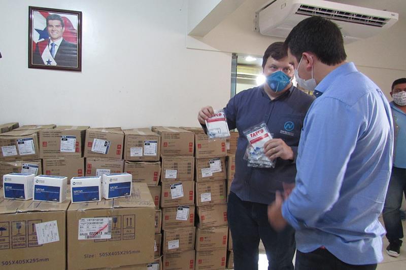 Norte Energia entrega de testes e máscaras à Sespa
