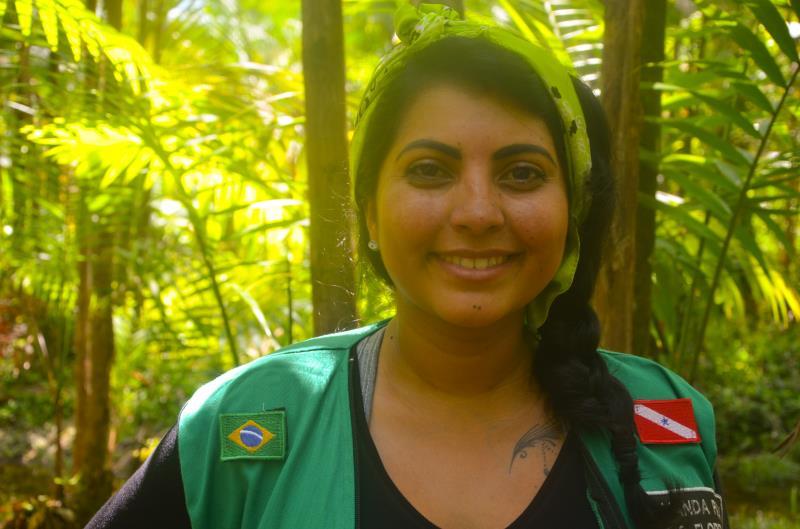 Amanda Quaresma, consultora da empresa Caruanas, responsável pelas oficinas direcionadas para a cadeia de valor do açaí, promovidas pelo IFT.