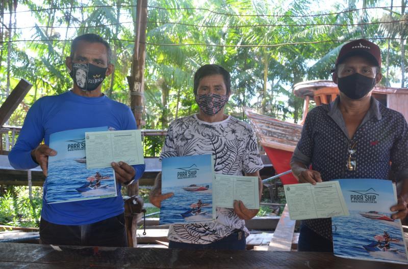 Lideranças comunitárias das Resex TGP, Mapuá e Arióca Pruanã