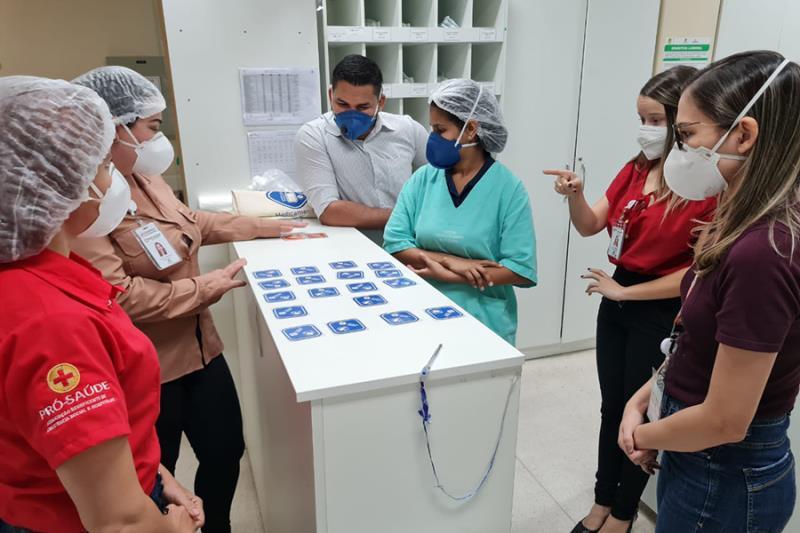 Jogos contribuem com a segurança no ambiente hospitalar. Foto Ascom Pró-Saúde