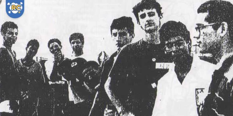 Grupo de quadrinistas Ponto de Fuga circa 1991
