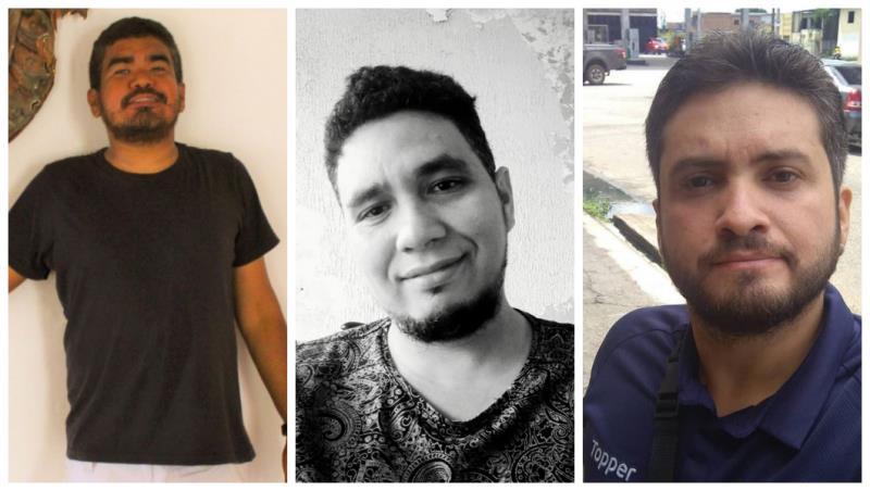 Adison Ferreira, Eraldo Paulino e Felipe Melo são os jornalistas responsáveis pelo podcast Carta Amazônia, que teve estreia nesta terça-feira, 30