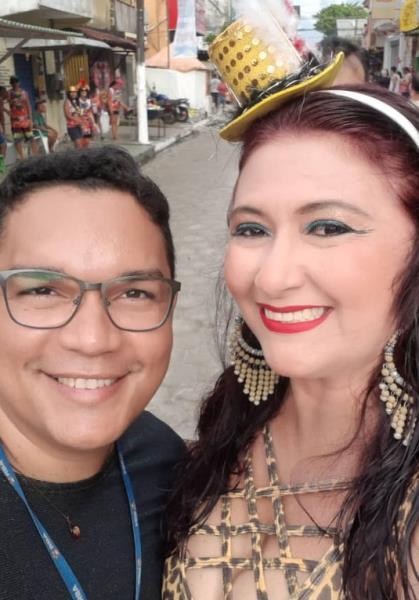 Denilson e Leka no carnaval em Vigia, na segunda-feira Gorda