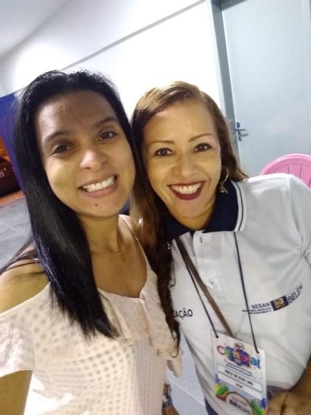 Adriana Pereira e Noely Lima, em momento de congraçamento na Aldeia Amazônica