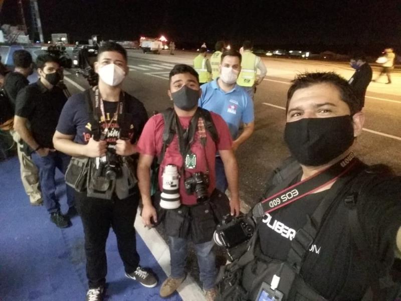 Os meninos que ficaram no aeroporto aguardando a chegada da vacina, Igor Mota, Filipe Bispo Vale, Marx Furtado e Ronan Frias