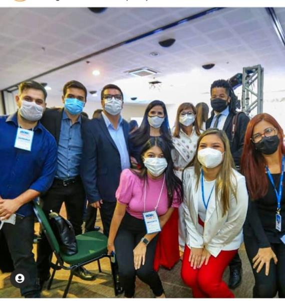 Jornalistas da Secom/Agência Pará na coletiva no Hangar