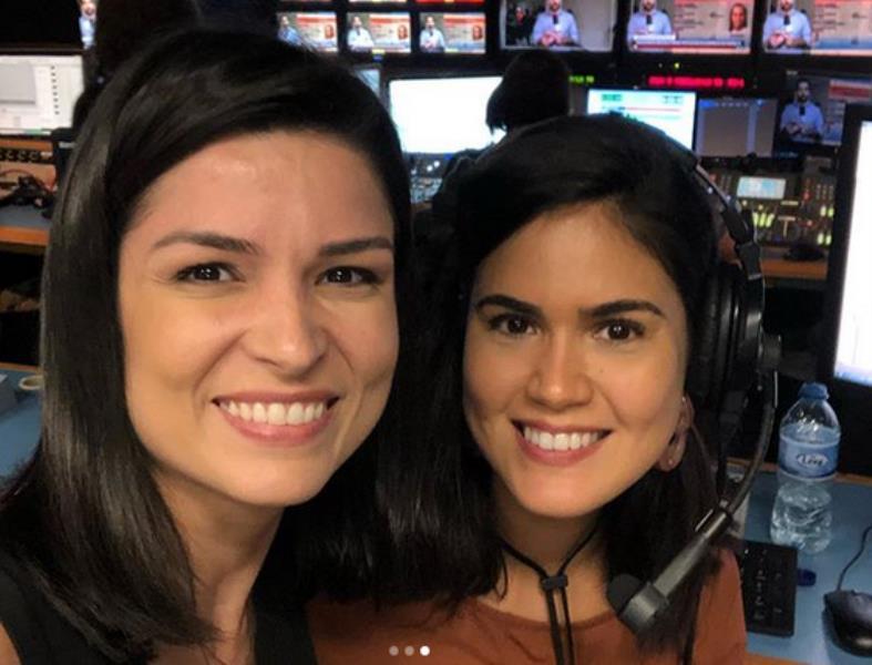 Priscilla e Karla Albuquerque que é 'cria' da TV Liberal e agora está na Globo RJ
