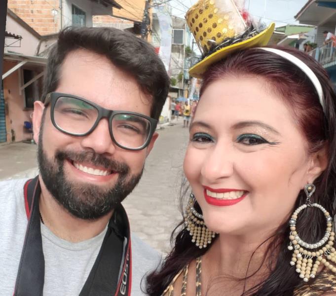 No carnaval de Vigia, Alessandra Serrão e Bruno Carachesti