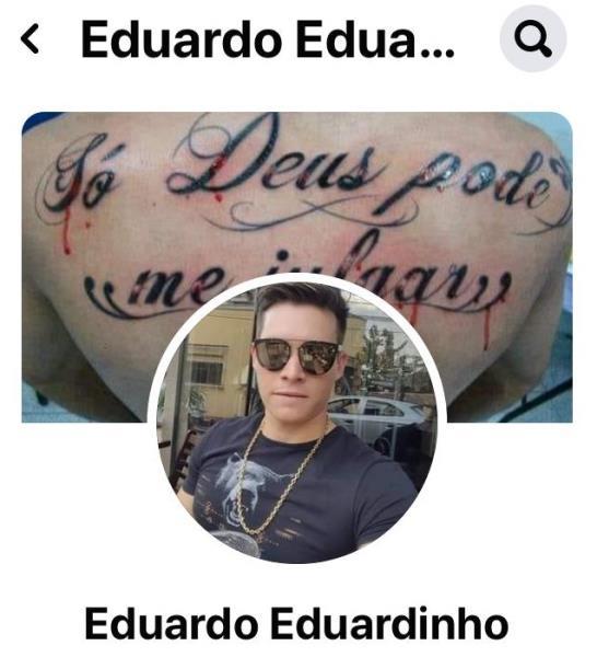 Esse é o perfil de Eduardo no Facebook