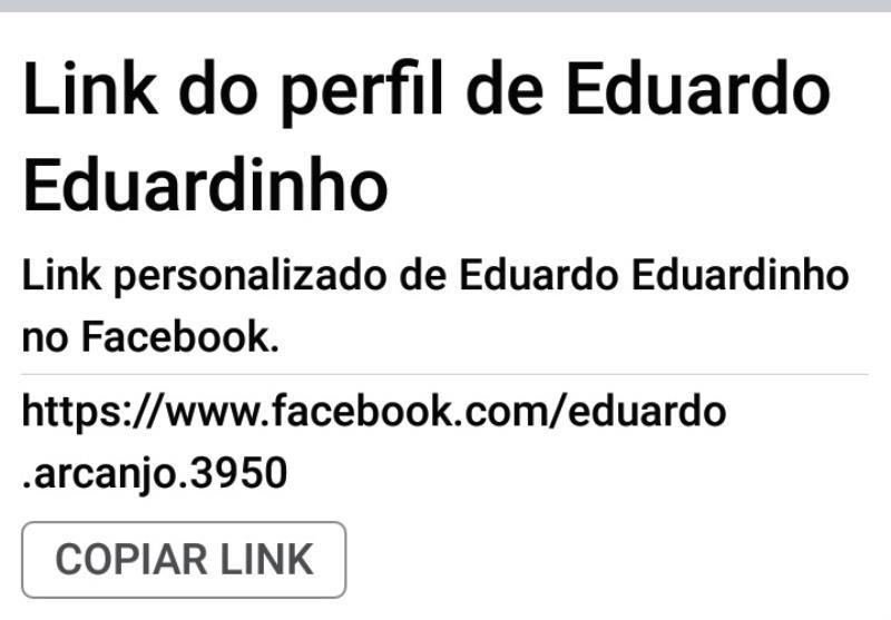 Link do perfil de Eduardo no Facebook