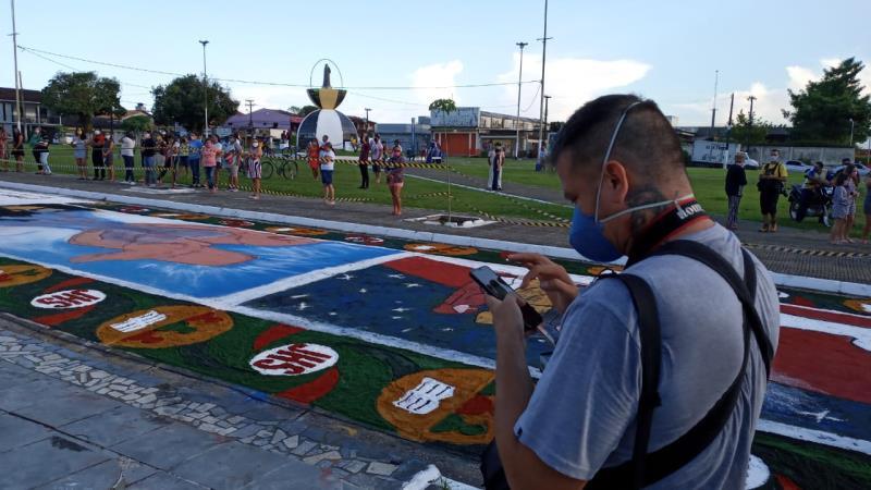 Thiago Gomes, da Redação Integrada O Liberal, em momento concentrado