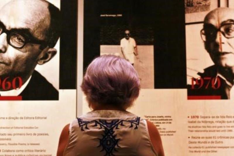 """Continua em cartaz até o dia 17 de fevereiro, no Museu do Estado do Pará (MEP), a exposição """"Saramago – Os Pontos e a Vista"""", sobre a vida e a obra do célebre escritor português."""