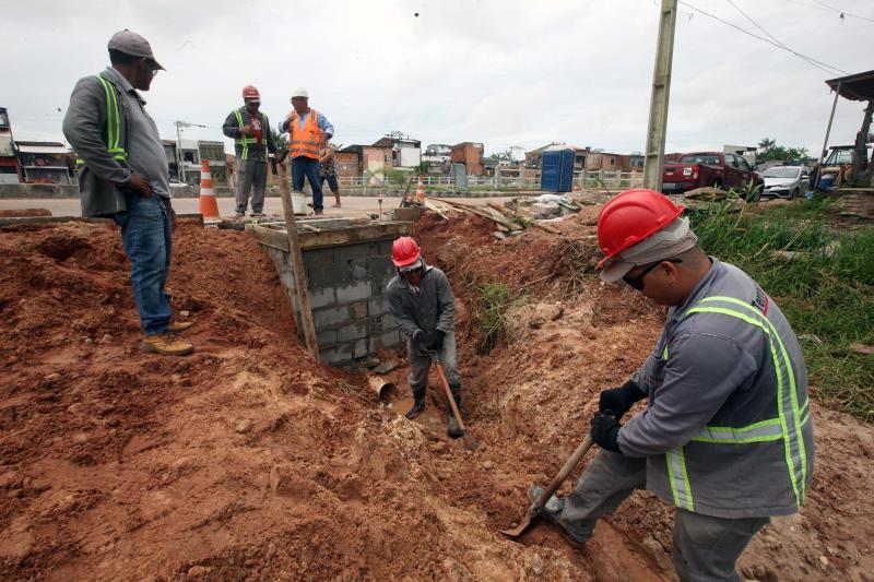O projeto, que prevê a dragagem e revestimento total do canal, vai beneficiar milhares de moradores dos bairros do Guamá, Terra Firme, Canudos e Marco, em Belém.