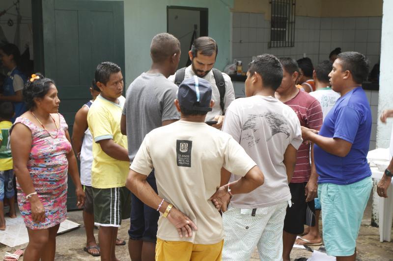 As ações promovidas no abrigo foram apresentadas à missão da Unicef