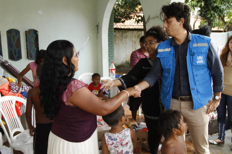 A visita ao abrigo foi proveitosa para os indígenas e os integrantes da Unicef