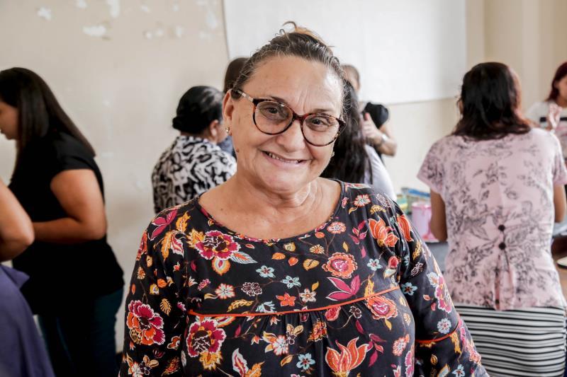 Conceição Cardoso avaliou positivamente a oficina e disse que pretende continuar com o que aprendeu