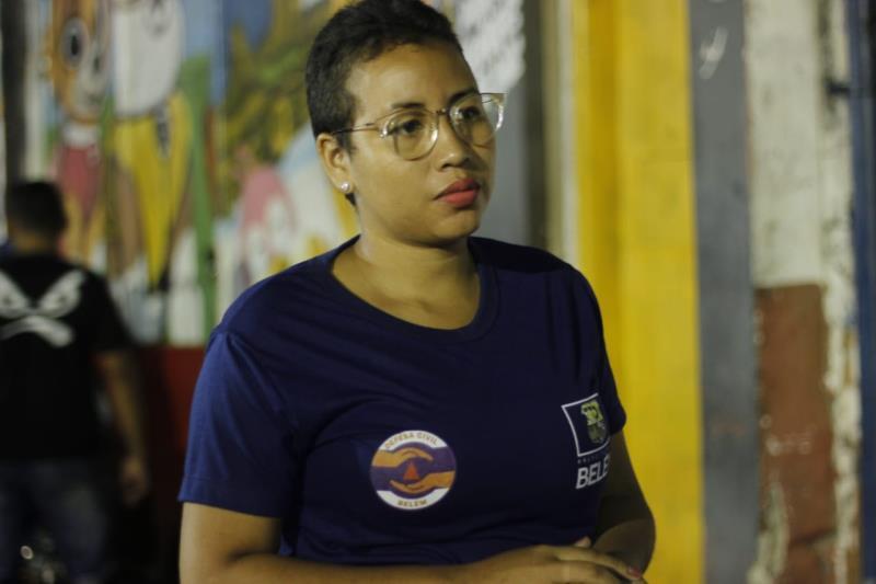 Cristine Oliveira, uma das voluntárias da Defesa Civil, comentou sobre o trabalho.