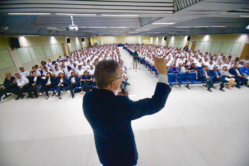 A aula magna realizada no auditório do Centur, em Belém, reuniu os candidatos selecionados para a segunda e última fase do concurso da Susipe
