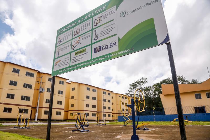 Academia ao ar livre também faz parte do residencial